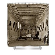 San Miguel Mission California Circa 1915 Shower Curtain
