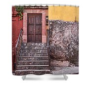 San Miguel Steps And Door Shower Curtain