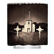 San Patricio Church IIi Sepia Shower Curtain
