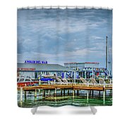 San Pedro Ambergris Caye Landing Shower Curtain