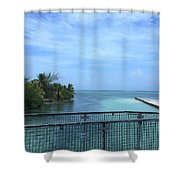 San Pedro Belize Shower Curtain