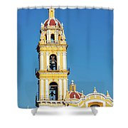 San Pedro Church Tower Shower Curtain