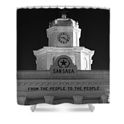 San Saba Couthouse Shower Curtain