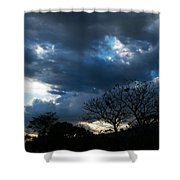 San Salvador Sunset 4 Shower Curtain