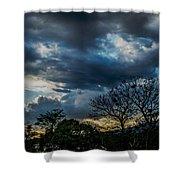San Salvador Sunset 5 Shower Curtain