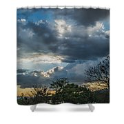 San Salvador Sunset Shower Curtain