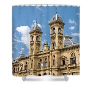 City Hall - San Sebastian - Spain Shower Curtain