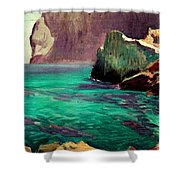 San Vicente Cove Mallorca Shower Curtain