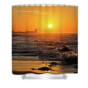 Sancti Petri Castle At Sunset San Fernando Cadiz Spain  Shower Curtain