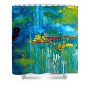 Sanctuary Abstract Painting Shower Curtain