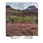 Sanctuary Cove Labyrinth Shower Curtain