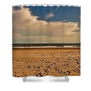 Sand And Clouds Shower Curtain