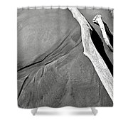Sand And Driftwood Shower Curtain