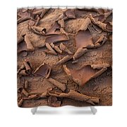 Sand And Mud Curls Shower Curtain