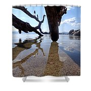 Sand And Shadows Shower Curtain