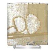 Sand And Stone 1- Contemporary Abstract Art By Linda Woods Shower Curtain