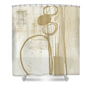 Sand And Stone 2- Contemporary Abstract Art By Linda Woods Shower Curtain