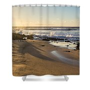 Sand And Sun Flare Shower Curtain