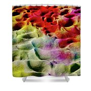 Sand Art Abstract Shower Curtain