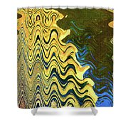 Sand At The Beach Abstract Shower Curtain