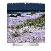 Sand Beach And Grass Shower Curtain