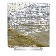 Sand Beach And Wave 4 Shower Curtain