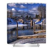 Sand Creek Winter Shower Curtain