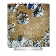 Sand Dune With Snow Shower Curtain