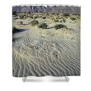 Sand Dunes And San Ysidro Mountains Shower Curtain