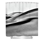 Sand Dunes Black And White Shower Curtain