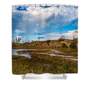 Sand Dunes In Indiana Shower Curtain