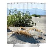 Sand Dunes, Plants, Mountains Shower Curtain