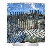 Sand Fence Shower Curtain