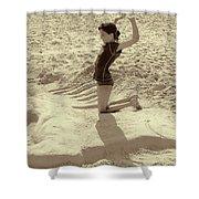 Sand Horse Shower Curtain