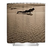 Sand Plank Shower Curtain