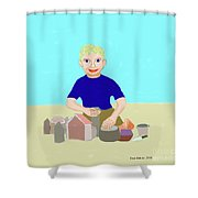 Sand Sculptor Shower Curtain
