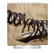 Sand Shoes I Shower Curtain