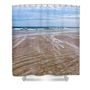 Sand Swirls On The Beach Shower Curtain