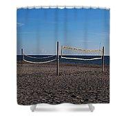 Sand Volleyball Shower Curtain
