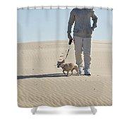 Sand Walk Shower Curtain