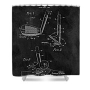 Sand Wedge Patent Shower Curtain