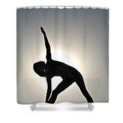Sand Yoga Shower Curtain