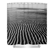 Sandbar Patterns Shower Curtain