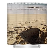 Sandcastle On The Beach, Hapuna Beach Shower Curtain