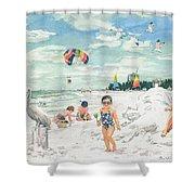 Sandcastles On Siesta Key Public Beach Shower Curtain