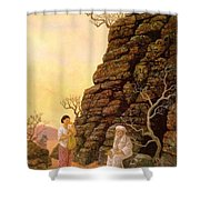 Sandersonruth-gulnara-sj Ruth Sanderson Shower Curtain
