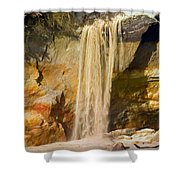 Sandfall Shower Curtain