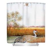 Sandhill Cranes-jp3160 Shower Curtain