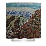 Looking Down From The Sandia Mountains Shower Curtain