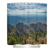 Sandia Crest In Fall Shower Curtain